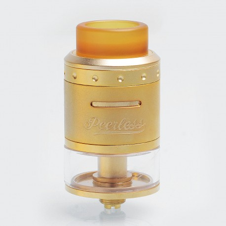 Authentic GeekVape Peerless RDTA Rebuildable Dripping Tank Atomizer - Gold, Stainless Steel, 4ml, 24mm Diameter, Standard