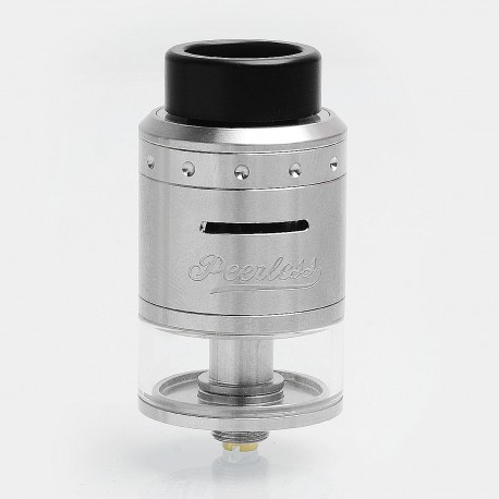 Authentic GeekVape Peerless RDTA Rebuildable Dripping Tank Atomizer - Silver, Stainless Steel, 4ml, 24mm Diameter, Standard