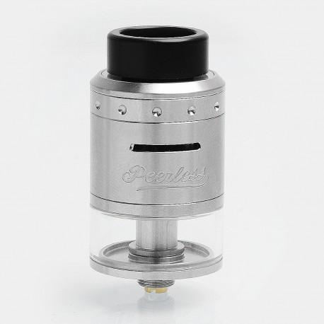 Authentic GeekVape Peerless RDTA Rebuildable Dripping Tank Atomizer - Silver, Stainless Steel, 4ml, 24mm Diameter, Standard