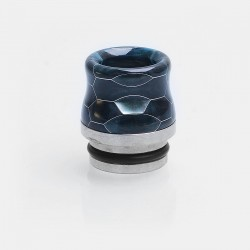 810 Replacement Wide Bore Drip Tip for TFV8 / TFV8 Big Baby / TFV12 Tank - Blue, Resin + Stainless Steel, 17.5mm
