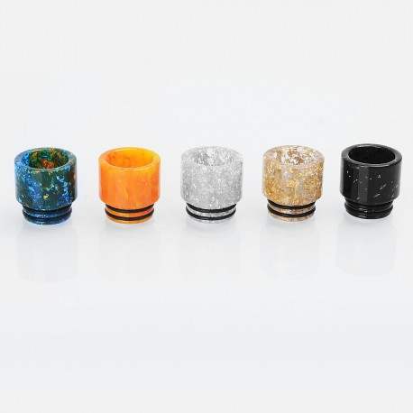 810 Replacement Wide Bore Drip Tip Kit for TFV8 / TFV12 / Goon / Kennedy - Random Color, Resin, 16mm (5 PCS)