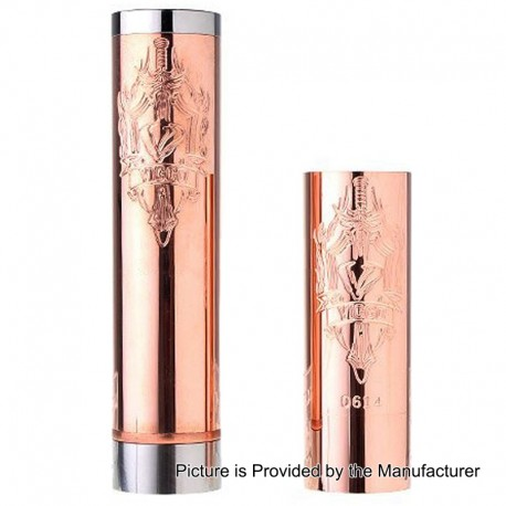 SXK Viggo Style Mechanical Mod - Copper, Stainless Steel + Copper + Brass, 1 x 18650 / 18490 / 18350