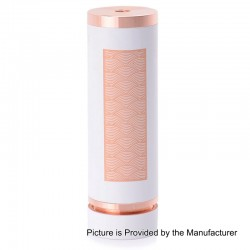 SXK Notorious Style Hybrid Mechanical Mod - White, Copper, 1 x 26650