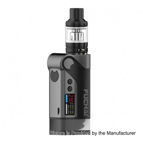 Authentic Sigelei Fuchai Vcigo K2-T 175W TC VW Variable Wattage Mod + T3 Tank Kit - Black, 10~175W, 2 x 18650, 24mm Diameter