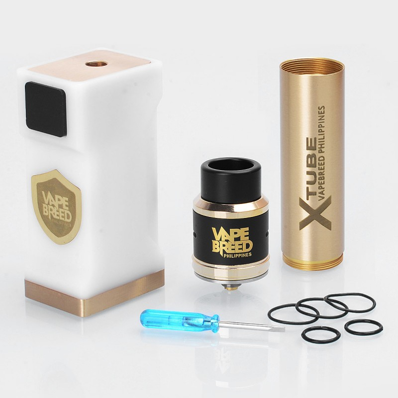 Vape Breed Style White POM Brass Mechanical Mod + Atty V4