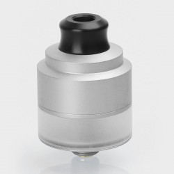 Authentic GAS Mods Nixon V1.5 RDTA Rebuildable Dripping Tank Atomizer w/ BF Pin - Silver, Stainless Steel, 2ml, 22mm Diameter