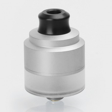 Authentic GAS Mods Nixon V1.5 RDTA Rebuildable Dripping Tank Atomizer w/ BF Pin - Silver, Stainless Steel, 22mm Diameter