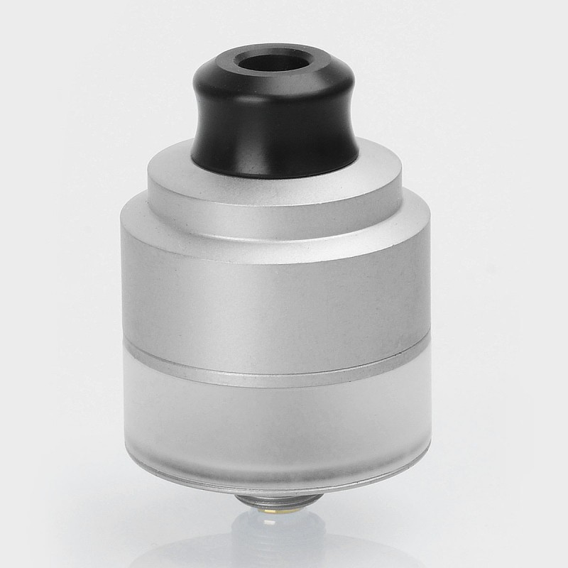 Authentic GAS Mods Nixon V1.5 RDTA Silver 22mm BF Rebuildable Atomizer