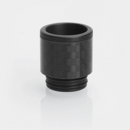 810 Replacement Wide Bore Drip Tip for TFV12 / TFV8 / TFV8 Big Baby Tank - Black, POM + Carbon Fiber, 18mm