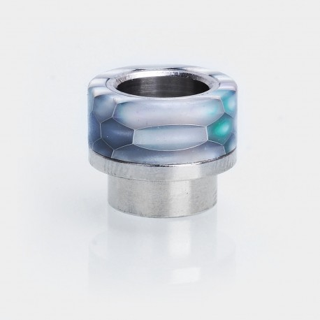 810 Replacement Wide Bore Drip Tip for 528 Goon / Kennedy / Battle RDA - White, Resin + Stainless Steel, 14mm