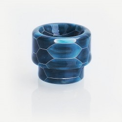 810 Replacement Wide Bore Drip Tip for 528 Goon / Kennedy / Battle / Mad Dog RDA - Blue, Resin, 14mm