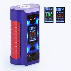 Authentic Sigelei MT Combines 220W TC VW Variable Wattage Mod - Dark Purple, 10~220W, 2 x 18650