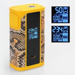 Authentic IJOY Captain PD270 234W TC VW Variable Wattage Mod - Yellow, 5~234W, 2 x 20700, 0.05~3 Ohm (without 20700 Batteries)