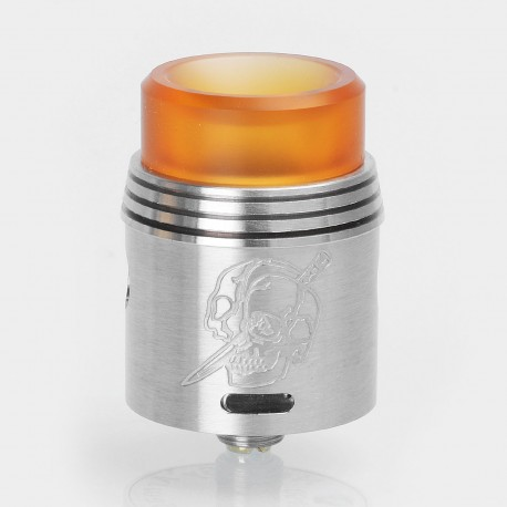 Rapture Style RDA Rebuildable Dripping Atomizer - Silver, Stainless Steel, 24mm Diameter