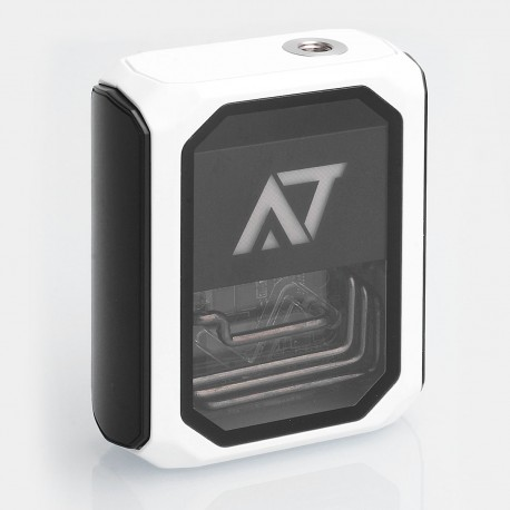 Authentic Wotofo Stentorian AT-7 100W 3500mAh Box Mod - White, 4.2V, 0.1~3 Ohm, USB Fast Charging