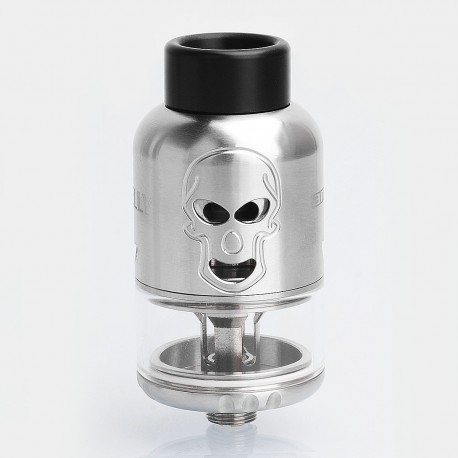 Authentic Ample Skelly RDTA Rebuildable Dripping Tank Atomizer - Silver, Stainless Steel, 4.5ml, 25mm Diameter