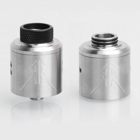 Recoil Rebel Style RDA Rebuildable Dripping Atomizer - Silver, Stainless Steel, 24mm Diameter