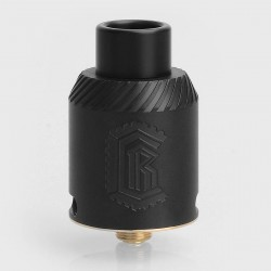 YFTK Reload 1.2 Style RDA Rebuildable Dripping Atomizer w/ BF Pin - Black, 316 Stainless Steel, 24mm Diameter