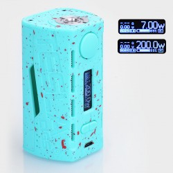 Authentic Tesla WYE 200W TC VW Variable Wattage Box Mod - Blue, ABS + PC, 7~200W, 2 x 18650
