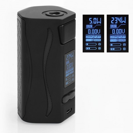 Authentic IJOY Genie PD270 234W TC Temperature Control Box Mod - Black, 5~234W, 2 x 20700, Without Battery
