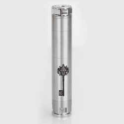 SXK Skeleton Key Style Mechanical Mod - Silver, Stainless Steel, 1 x 18650 / 18500 / 18350