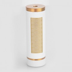 SXK Notorious Style Hybrid Mechanical Mod - White, Brass, 1 x 26650