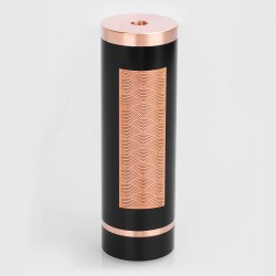 SXK Notorious Style Hybrid Mechanical Mod - Black, Copper, 1 x 26650