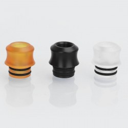 Authentic GAS Mods 510 Drip Tip Set for Nixon V1.5 RDTA - Translucent + Brown + Black, PC + PEI + POM, 12.5mm (3 PCS)