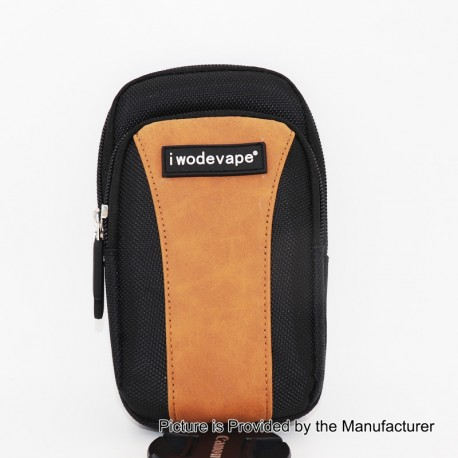 Authentic Iwodevape Carrying Pouch Bag for E-Cigarette - Black + Brown, Nylon, 113 x 177 x 41mm