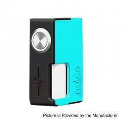 Authentic Vandy Vape Pulse BF Squonk Mechanical Box Mod - Black + Cyan, Nylon + ABS, 8ml, 1 x 18650 / 20700