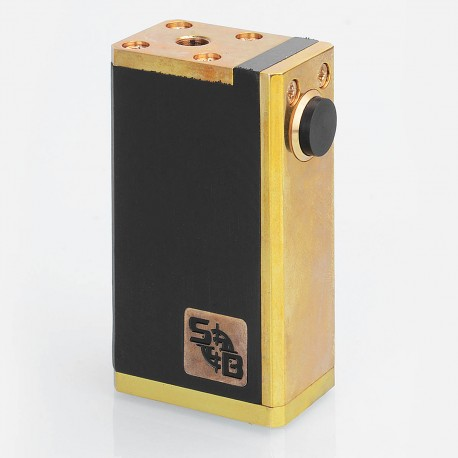 SOB Style Hybrid Mechanical Box Mod - Black, Brass + POM, 1 x 18650