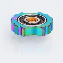Authentic Vape Geek 510 Hand Spinner Fidget Toy for RDA / RTA / Sub Ohm Tank Atomizer - Rainbow, Stainless Steel