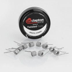 Authentic Claptonwire Twisted Coils Kanthal A1 Heating Wire - 24GA x 2, 0.6 Ohm (10 PCS)