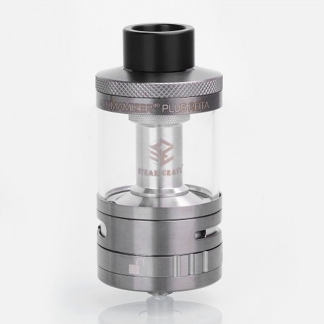 Authentic Steam Crave Aromamizer Plus RDTA Rebuildable Dripping Tank Atomizer - Gun Metal, Stainless Steel, 10ml, 30mm Diameter
