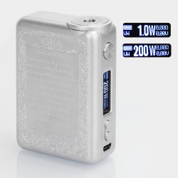 Authentic Smoant GAIA 200W TC VW Variable Wattage Box Mod - Silver, Zinc Alloy, 1~200W, 2 x 18650