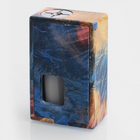 VGME Style Bottom Feeder Squonk Mechanical Box Mod - Random Color, Stabilized Wood, 1 x 18650, 8ml