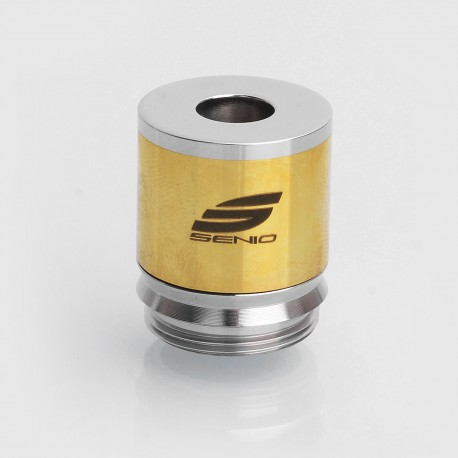 SXK Caracela Style RDA Redbuildable Dripping Atomizer - Silver + Gold, Stainless Steel, 22mm Diameter