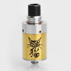 SXK Cat Style RDA Redbuildable Dripping Atomizer - Silver + Gold, Stainless Steel, 22mm Diameter