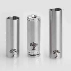 SXK Tree of Life Style Mechanical Mod - Silver, Stainless Steel, 1 x 18350 / 18490 / 18650