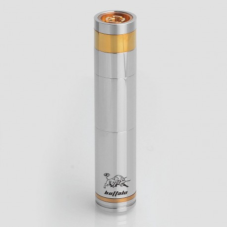 SXK Buffalo Style Mechanical Mod - Silver, Stainless Steel, 1 x 18350 / 18490 / 18650