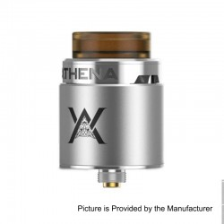 Authentic GeekVape Athena Squonk RDA Rebuildable Dripping Atomizer w/ BF Pin - Silver, Stainless Steel, 24mm Diameter