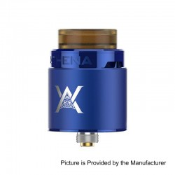 Authentic GeekVape Athena Squonk RDA Rebuildable Dripping Atomizer w/ BF Pin - Blue, Stainless Steel, 24mm Diameter