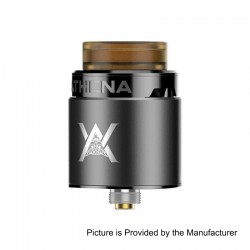 Authentic GeekVape Athena Squonk RDA Rebuildable Dripping Atomizer w/ BF Pin - Gun Metal, Stainless Steel, 24mm Diameter