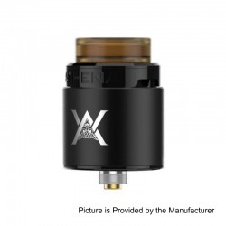 Authentic GeekVape Athena Squonk RDA Rebuildable Dripping Atomizer w/ BF Pin - Black, Stainless Steel, 24mm Diameter