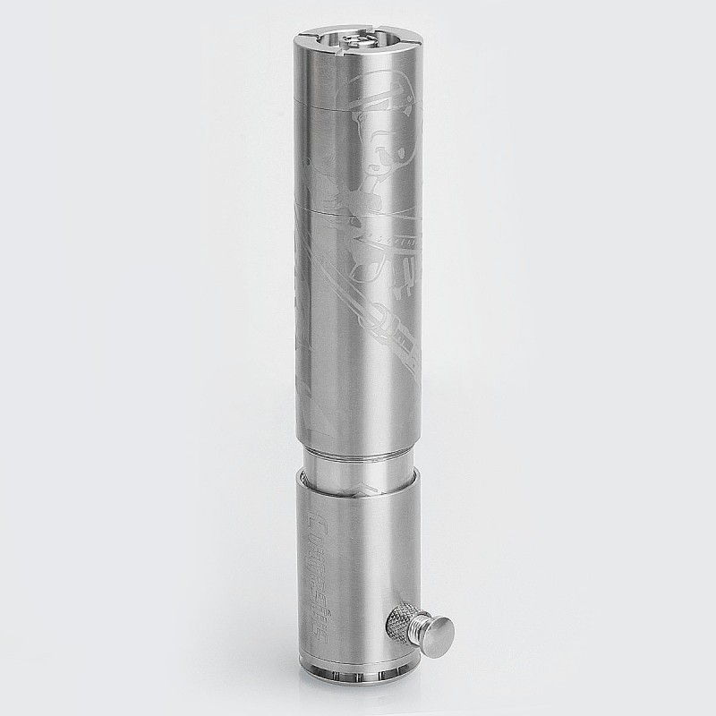 ShenRay Congestus Style Mechanical Mod - Silver, Stainless Steel, 1 / 2 x 26650