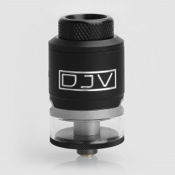 Authentic DEJAVU RDTA Rebuildable Dripping Tank Atomizer - Black, Stainless Steel, 2ml, 24mm Diameter