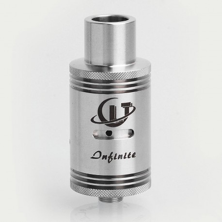 SXK CLT-2 Plus Style RDA Rebuildable Dripping Atomizer - Silver, Stainless Steel, 22mm Diameter