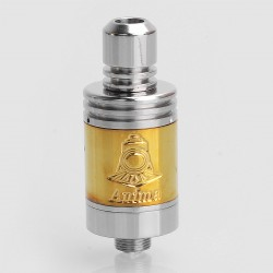 SXK Anima Style RDA Rebuildable Dripping Atomizer - Silver + Gold, Stainless Steel, 17mm diameter