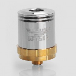 SXK Geyser Style RDA Rebuildable Dripping Atomizer - Silver, Stainless Steel, 22mm Diameter