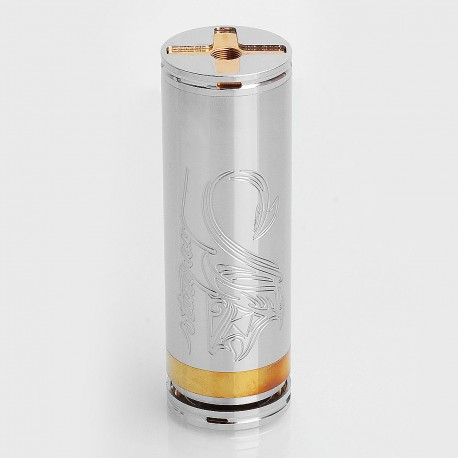 SXK Stingray Style Mechanical Mod - Silver, Stainless Steel, 1 x 26650